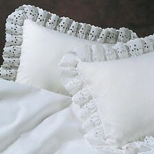 EYELET PILLOW SHAMS solid color  (Polyester)  Bedroom by Dainty Home - 1pc
