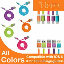 3FT New Aluminum Noodle Style Charge Sync Data Cable Cord fit iPad iPod Mini Air
