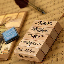DIY Retro lace pattern diary Wooden Rubber Stamp A43~9 For Kid Child Gift
