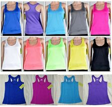 Women Moisture Wick Sports Athletic Workout Fitness Gym Yoga Racer Back Tank Top