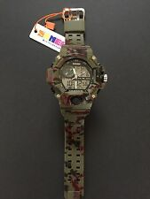SKMEI Mens Military style Camo Watch  S-Shock LED Dual Core Movements JAPAN MOVT