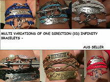 NEW 2017 VARIATIONS OF ONE DIRECTION (1D) INFINITY BRACELETS GREAT VALUE AUS!!