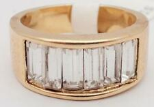 18K GOLD EP VEGAS STYLE CLUSTER RING SIZE size  7 - 9 you choose