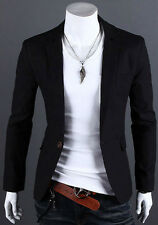One Button Suit for Mens Formal Casual Dress Slim Fit Blazer Jacket Coat Outwear