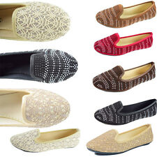 New Women Casual Comfort Slip On Round Toe Ballet Flat Shoes Womens Cute Size
