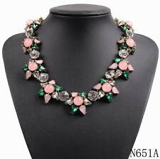 brand crystal necklace & pendant chunky choker collar statement necklace jewelry