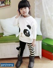 Children's Girls Clothing Sets Outfits 2pcs/set Costume for Kids Panda 8BY