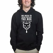 Think Outside The Box Cat Whiskers Mens Womens Children's Sweatshirt Hoodie R215