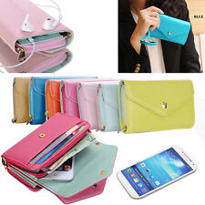 Multi Propose Wallets Pouch Case Wristlet Purse For Cell Phone Galaxy S Mp4 Mp5