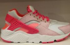 NIKE AIR HUARACHES RUN(GS) WMN/BYS/GRLST RAINER WHT/PINK POW LAVA GLOW ALL SIZE