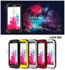 New Water/Dust/Shock Proof Aluminum Gorilla Glass Metal Case Cover for LG G3 G4