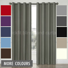 Quickfit 100% Blockout Eyelet Curtain Pair Thermal Insulated Grey, Black, Cream