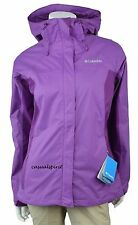 NEW Womens COLUMBIA Arcadia waterproof breathable rain jacket XS S M L XL Purple