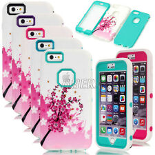 Plum Flower Pattern Skin High Impact Shockproof Case For iPhone 6 Plus / 6S Plus
