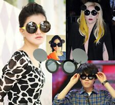 Lady Mickey Mouse Round Flip Up Paparazzi Sunglasses Glasses Shades Gaga Party