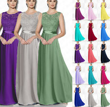 Hot Bateau Bridesmaid Dresses Floor Length Gowns Formal Evening dress 6++++++18