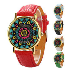 New Color Compass Leather Band Fashion Quartz Wristwatch Women Lady Watch