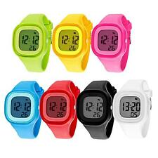 Stylish Silicone LED Light Sports Digital Watch Uniisex Waterproof Wrist Watch