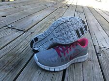 New Nike Free 5.0 (GS) STLTH-RSPBRRY-PINK-PLATINUM 580565 066 WMNS-GIRLS