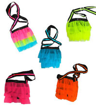 Neon Uv Multi, Pink, Orange, Blue Tutu Net Shoulder Bags Clubbing Cyber Rave