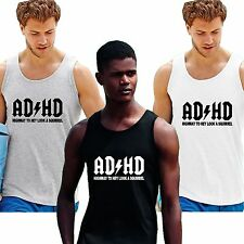 ADHD vest BEACH summer T shirt Highway To Hey A Squirrel AC DC Spoof Funny Geek
