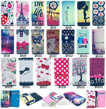 Stylish Pretty Universal Wallet ID Card Flip PU Leather Cover Case For Samsung