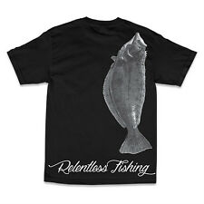 "RELENTLESS FISHING ""HALI  HALIBUT"" SHORT SLEEVE T-SHIRT COLOR BLACK SELECT SIZE"