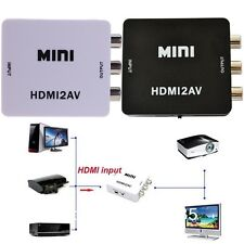 HDMI to RCA Composite Video Audio AV CVBS Adapter Converter 720p/1080p Upscaler