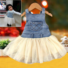 Kids Baby Girls Clothes Summers Denim Tutu Vest Dress Overalls Outfits 6M-4Y