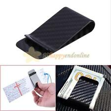 New Carbon Fiber Money Clip Safepocket Business Credit Card Holder Cash Wallet