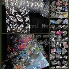 Nail Art Polish Glue Transfer Foil Easy DIY Stickier Tips Decor 56 Shiny Designs