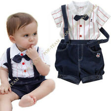New Newborn Baby Clothes Sets Striped Boys clothes Kids Outfits 0 2t 3t 4t TYA3