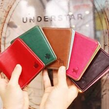 New Unisex Leather Purse Clutch Women Coin Card Holder Small Bag Couples Wallet