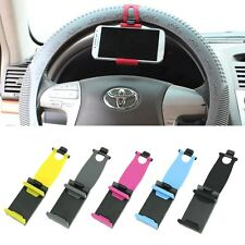 Universal Car Navigation Steering Wheel Clip Mount Holder F Mobile Phone GPS MP4