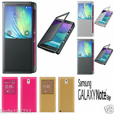 FLIP COVER + Pellicola Case Custodia s view per Samsung Galaxy NOTE EDGE N915