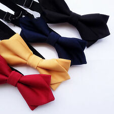 Kid baby Party School Pre-tied triangle Wedding Boys Silk Necktie bowtie PROP