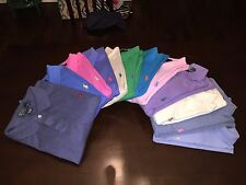Men's Sz Large Ralph Lauren Polo Shirt Interlock Short Sleeve Multiple Colors