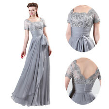 Mother of the Bride PLUS SIZE Formal Bridesmaid Party Evening Long prom Dresses