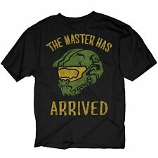 Adult Black Video Game Halo The Master Has Arrived Master Chief T-Shirt Tee