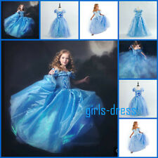 2015 1508 Cindererella Princess Gown Kids Ella Cosplay Costume Girls Dresses
