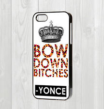 MADE FOR IPHONE 4 5 5C 6 6+ CASE - BEYONCE LYRICS BOW DOWN CROWN YONCE QUOTE