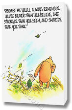 WINNIE THE POOH WALL ART CANVAS PRINT POSTER PHOTO PICTURE QUOTE NURSERY