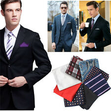Fashional Men Pocket Square Hankerchief Korean Silk Paisley Dot Floral Hanky