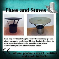 5 Inch or 6 inch Rain Cap cowl for Wood Stove Flue Pipe Chimney Pot
