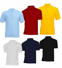 UniSex Boys Girls Kids Plain Blank Polo T Shirt  Short Sleeve School ware 3-18