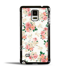 White Floral Pink Carnation Flowers Case Cover Samsung Galaxy Note & S Series