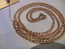 Russian solid rose gold 585 14k diamond cut chain necklace Nonna link Hollow