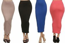 Sexy Stretch Straight Bodycon Fitted High Waisted Midi Skirt Pencil Clubwear