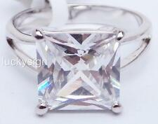 18K W GOLD EP 8.0CT DIAMOND SIMULATED SOLITAIRE RING WOW size 5 - 10 you choose