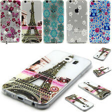 Transparent Crystal Rubber TPU Silicone Soft Back Case Cover For Samsung&iPhone